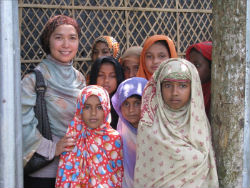 Dian Alyan Bangladesh Visit 2008 givelight children orphan girls
